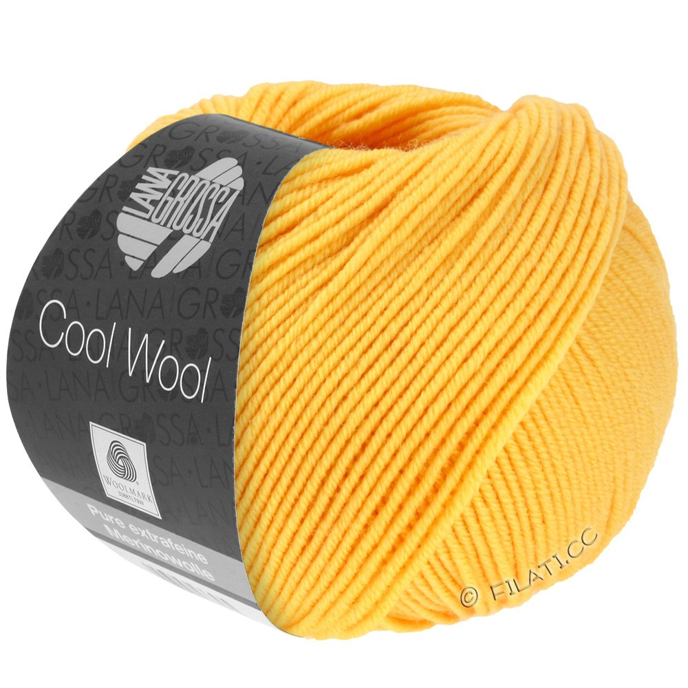 Lana Grossa COOL WOOL  Uni/Melange/Print/Degradé/Neon | 0419-gul