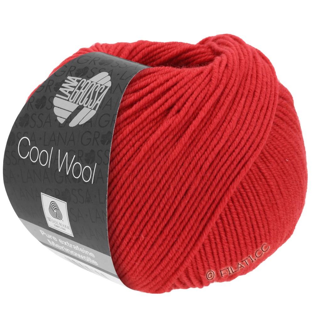 Lana Grossa COOL WOOL  Uni/Melange/Print/Degradé/Neon | 0437-karminrød