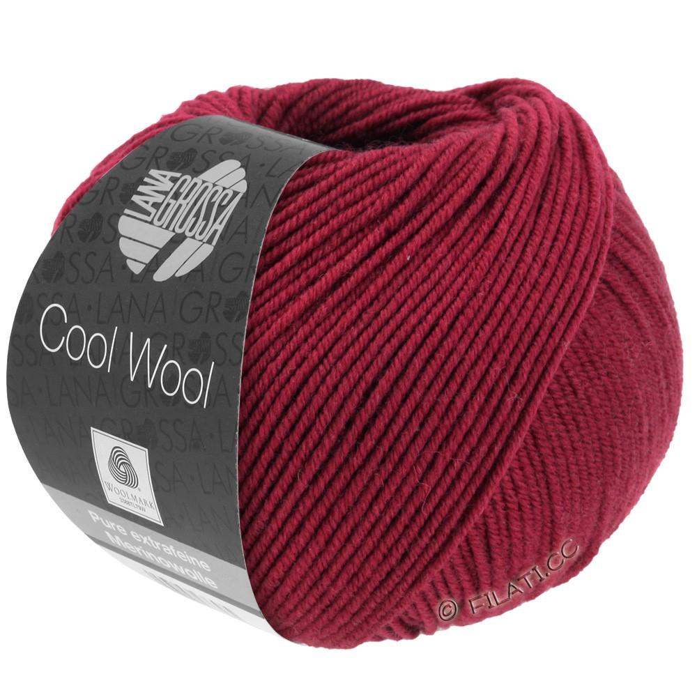 Lana Grossa COOL WOOL  Uni/Melange/Print/Degradé/Neon | 0468-vinrød