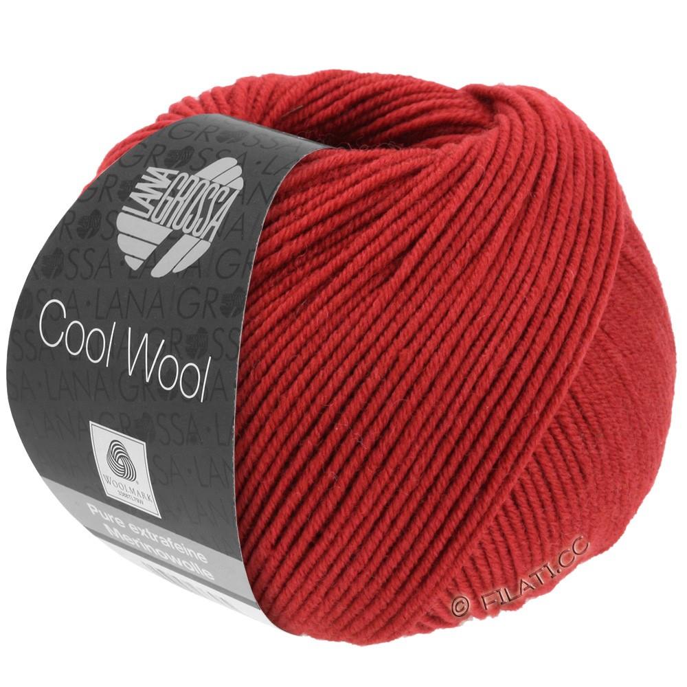 Lana Grossa COOL WOOL  Uni/Melange/Print/Degradé/Neon | 0514-mørkerød