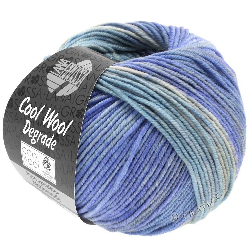 Lana Grossa COOL WOOL  Uni/Melange/Print/Degradé/Neon   6010-lyseblå/sartblå/violetblå