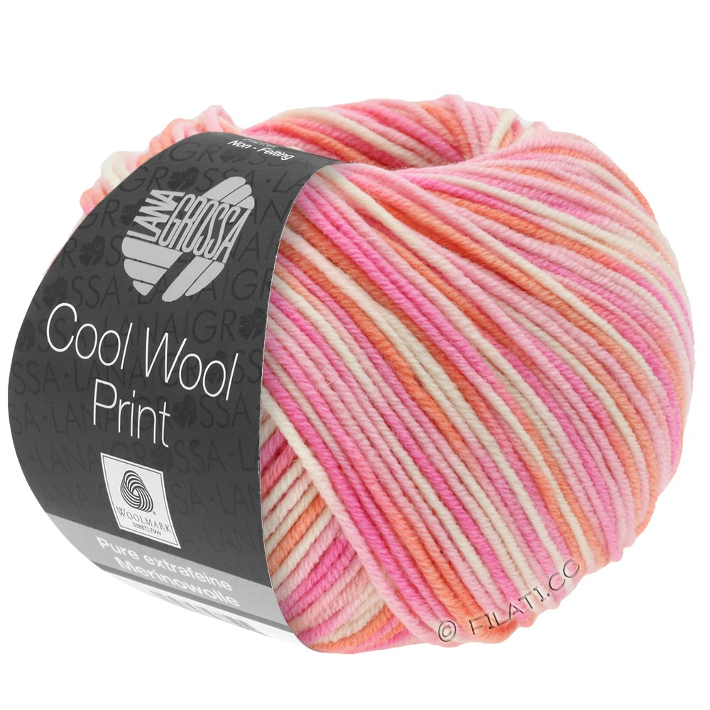 Lana Grossa COOL WOOL  Uni/Melange/Print/Degradé/Neon | 726-rosa/pink/koral/natur