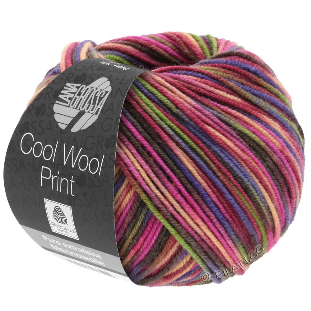 Lana Grossa COOL WOOL  Uni/Melange/Print/Neon | 749-vinrød/pink/oliven/blå violet/lakse/mokka