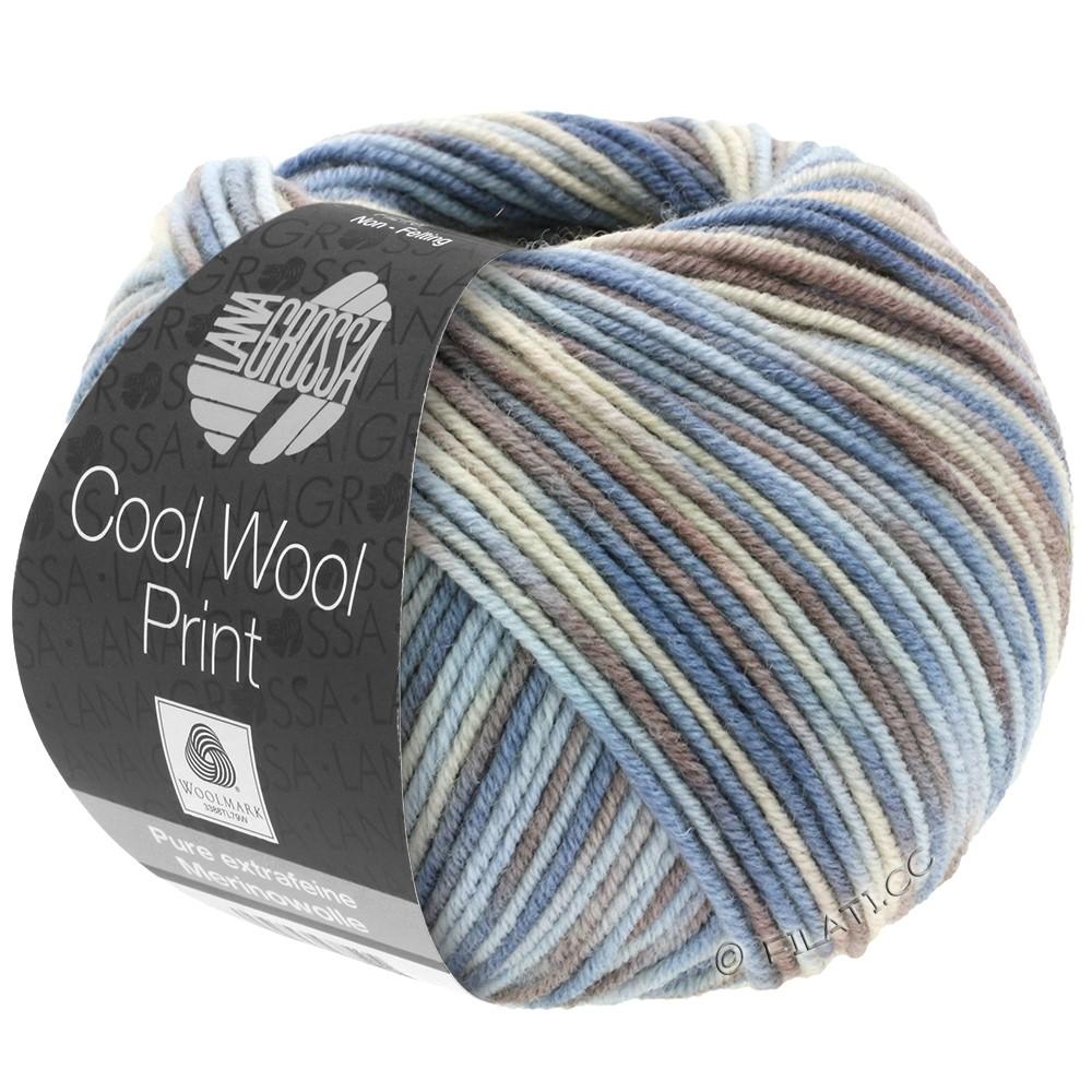Lana Grossa COOL WOOL  Uni/Melange/Print/Degradé/Neon | 763-lyseblå/grège/gråbrun/blågrå