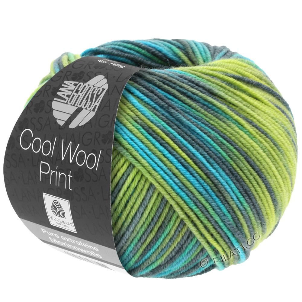 Lana Grossa COOL WOOL  Uni/Melange/Print/Degradé/Neon | 784-lysegrøn/æblegrøn/petrol/turkis