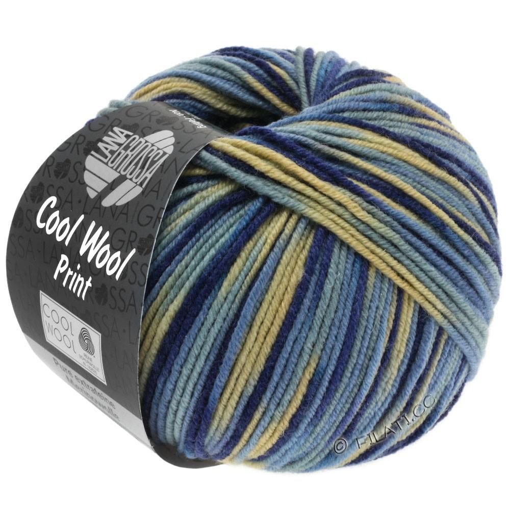 Lana Grossa COOL WOOL  Uni/Melange/Print/Neon | 797-beige/gråblå/jeans/marine