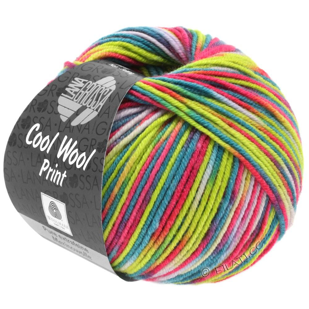 Lana Grossa COOL WOOL  Uni/Melange/Print/Neon | 798-pink/gulgrøn/natur/turkis/petrol/orange