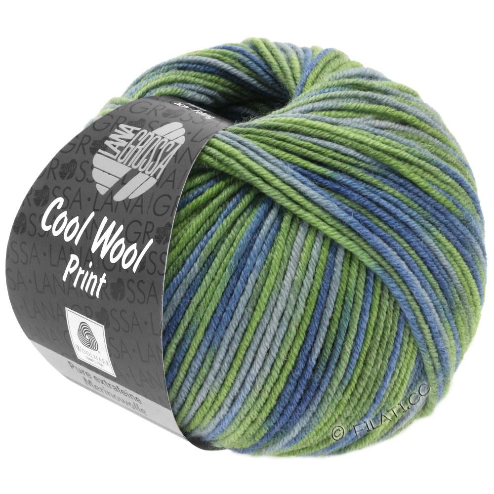 Lana Grossa COOL WOOL  Uni/Melange/Print/Degradé/Neon | 800-lysegrøn/resedagrøn/gråblå/grøngrå