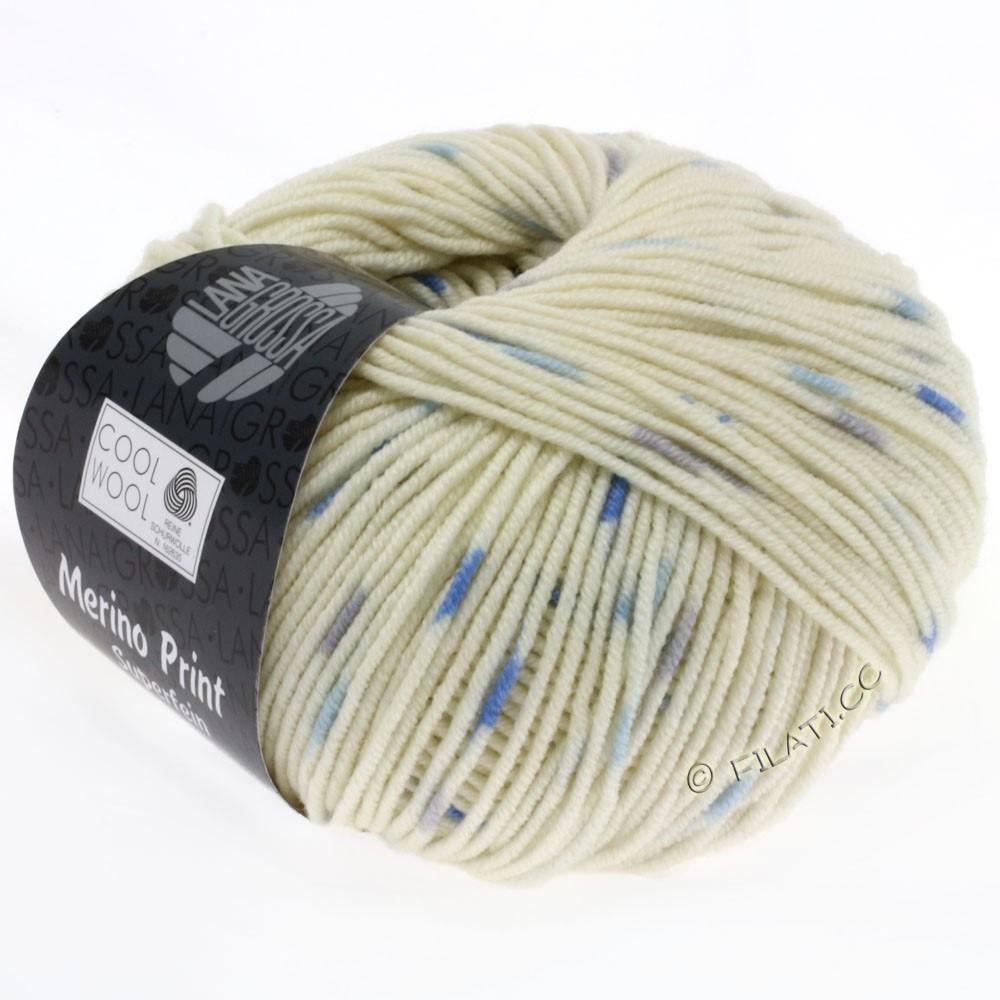 Lana Grossa COOL WOOL  Uni/Melange/Print/Degradé/Neon | 803-natur/mynte/jeans/grå