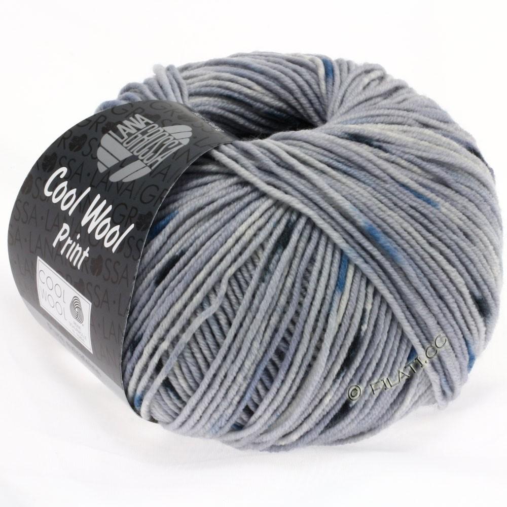 Lana Grossa COOL WOOL  Uni/Melange/Print/Neon | 806-lysegrå/rå hvid/marine/natblå