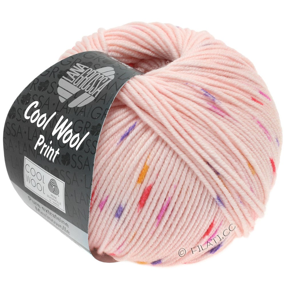Lana Grossa COOL WOOL  Uni/Melange/Print/Degradé/Neon | 808-rosa/pink/purpur/orange
