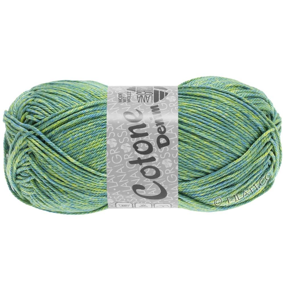 Lana Grossa COTONE  Print/Denim | 705-blå grøn/gulgrøn/lime