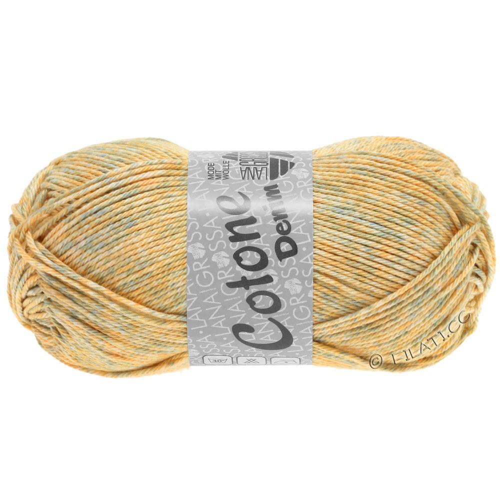 Lana Grossa COTONE  Print/Denim | 706-beige/sartgrå