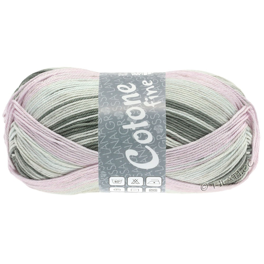 Lana Grossa COTONE FINE Print | 810-grège/rosé/lyse beige/gråbrun