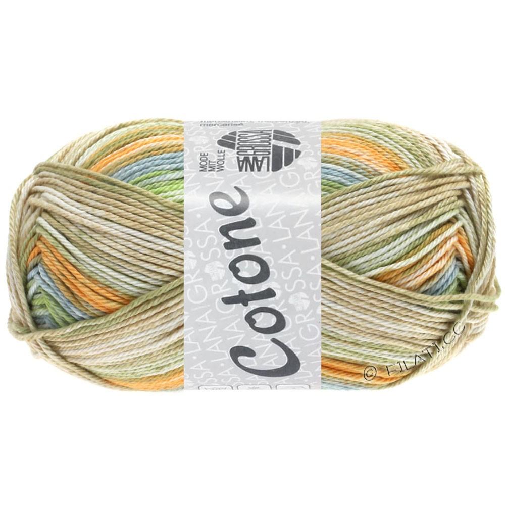 Lana Grossa COTONE  Print/Denim | 252-blegorange/gråblå/beige/sartgrøn/lyse kaki