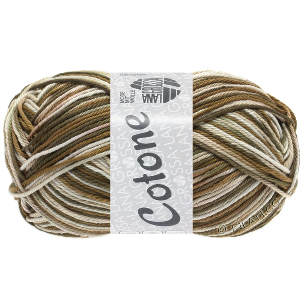 Lana Grossa COTONE  Print/Denim | 328-beige/brun/gråbrun
