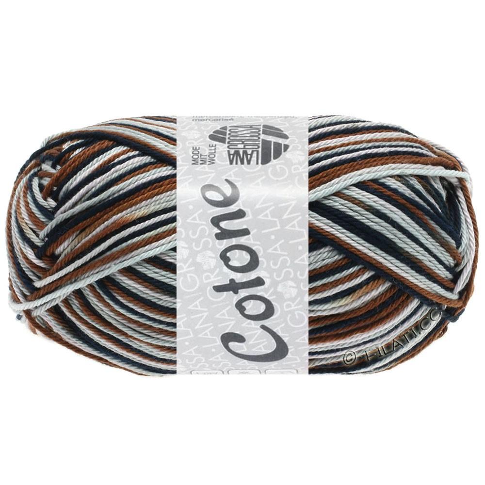 Lana Grossa COTONE  Print/Denim | 329-grå rosa/lysegrå/chokoladebrun/sort
