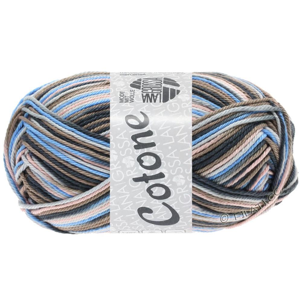Lana Grossa COTONE  Print/Denim | 332-lysegrå/taupe/lyseblå/antracit