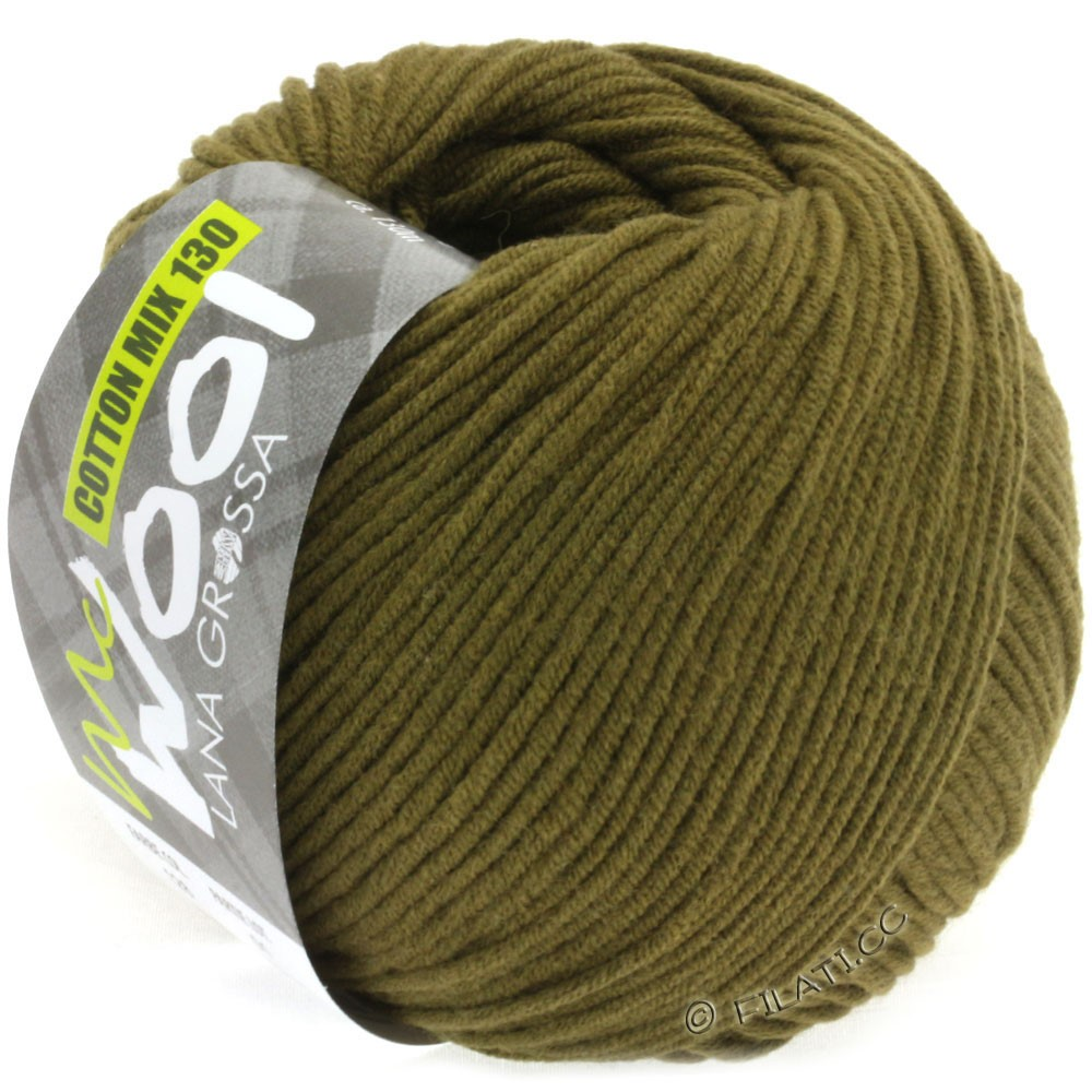 Lana Grossa COTTON MIX 130 (McWool) | 128-oliven