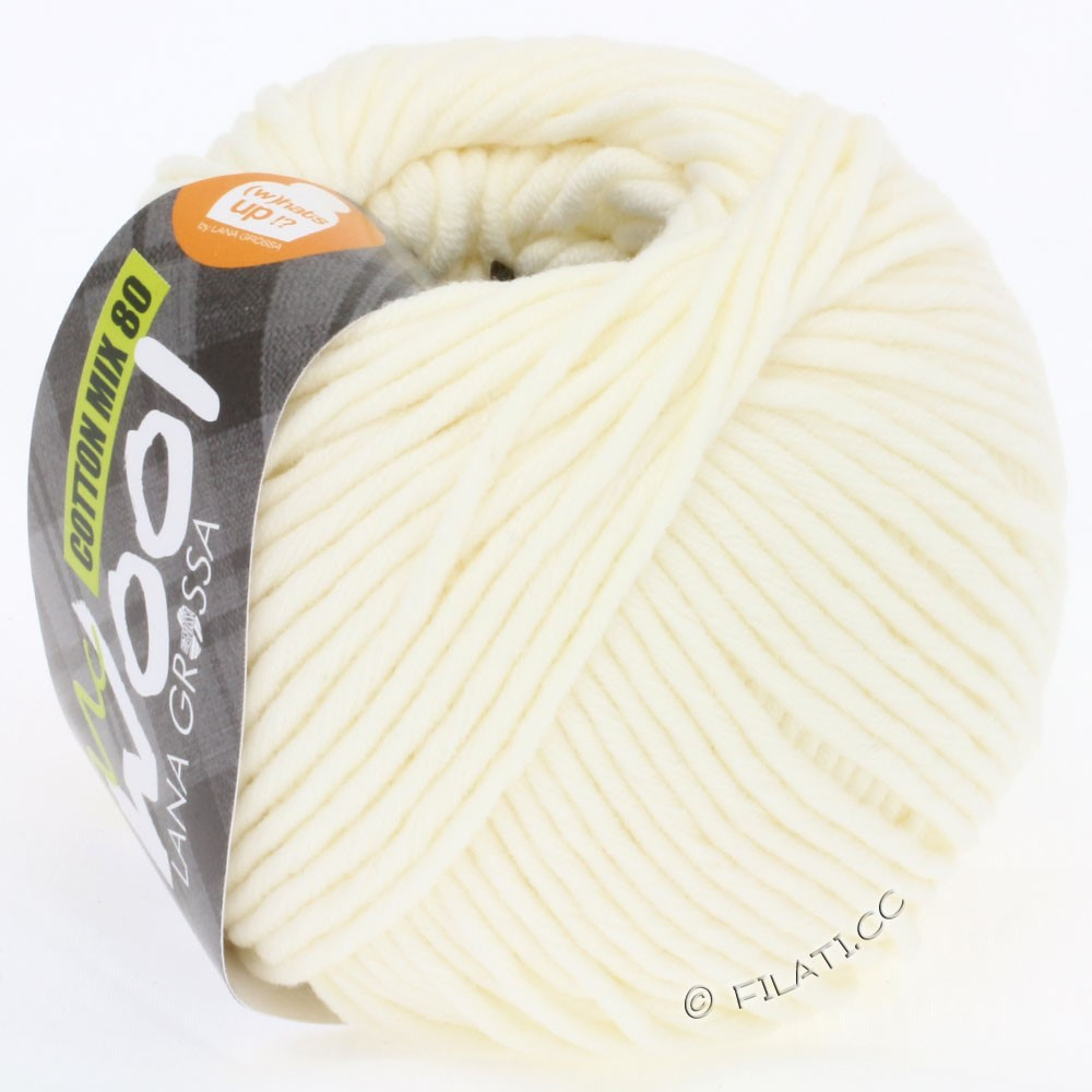 Lana Grossa COTTON MIX 80 (McWool) | 509-rå hvid
