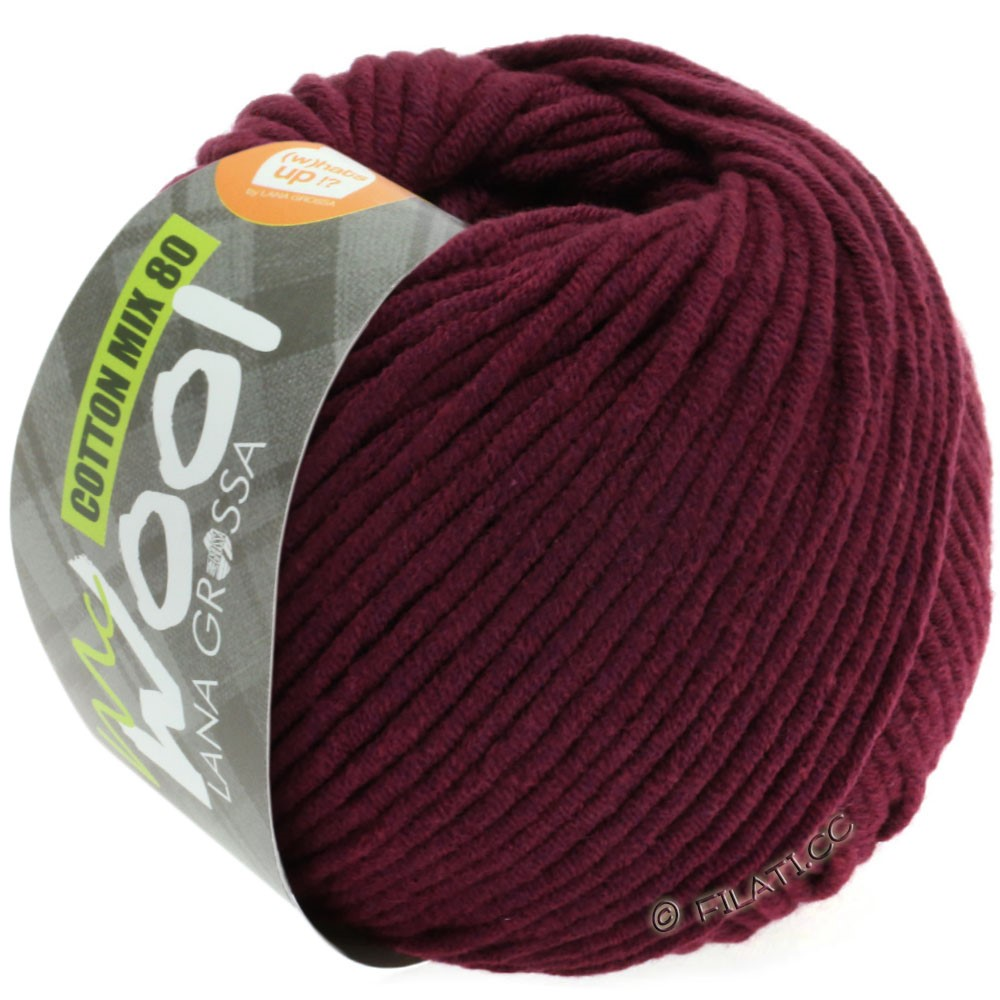 Lana Grossa COTTON MIX 80 (McWool) | 542-bordeaux