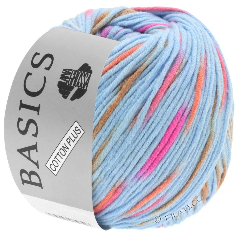 Lana Grossa COTTON PLUS | 203-lyseblå/pink/orange/lysebrun