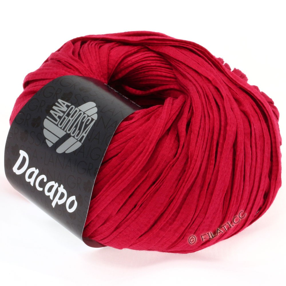 Lana Grossa DACAPO  Uni | 020-rubinrød
