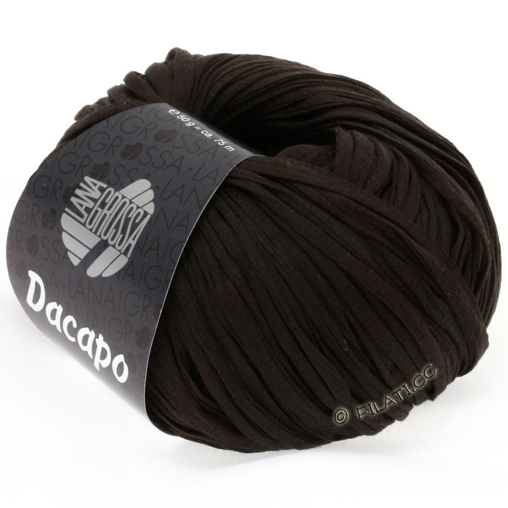 Lana Grossa DACAPO Uni | 022-sortbrun