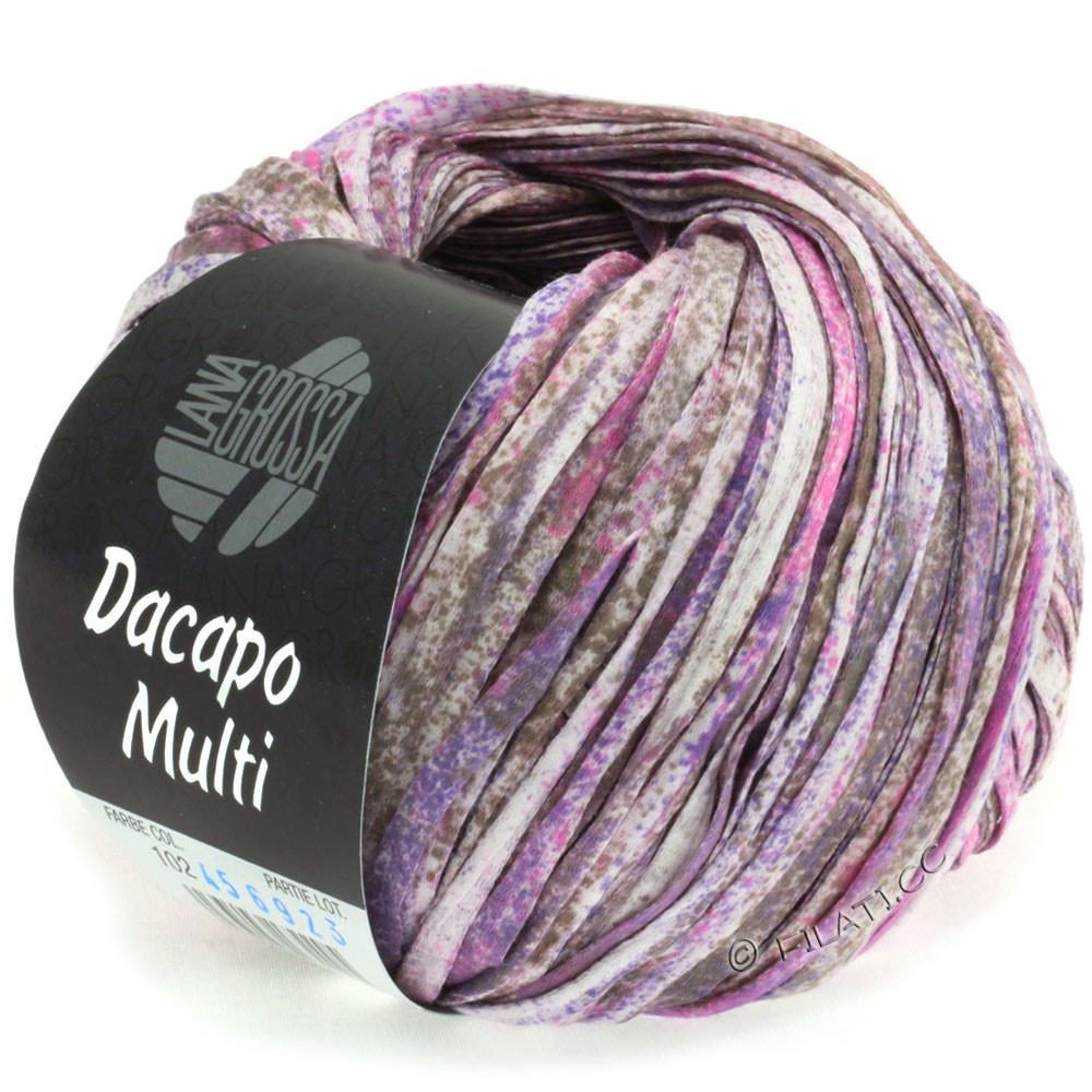 Lana Grossa DACAPO Multi | 102-purpur/pink/gråbrun/natur