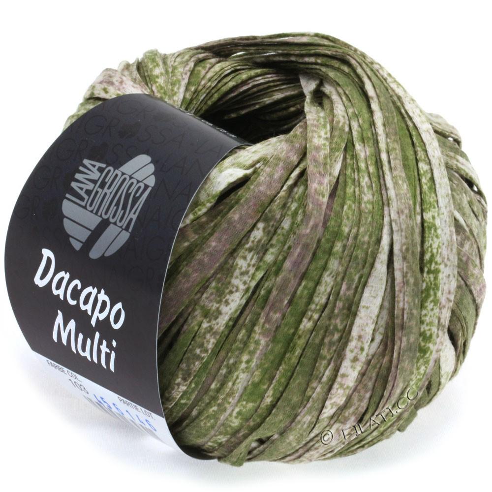 Lana Grossa DACAPO Multi | 103-mørkoliven/gammelrosa/natur