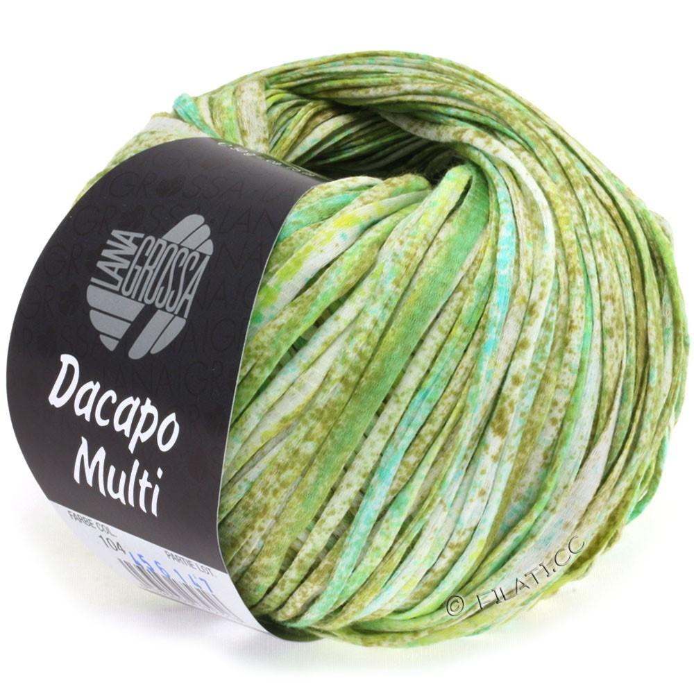 Lana Grossa DACAPO Multi | 104-oliven/lysegrøn/turkis/natur