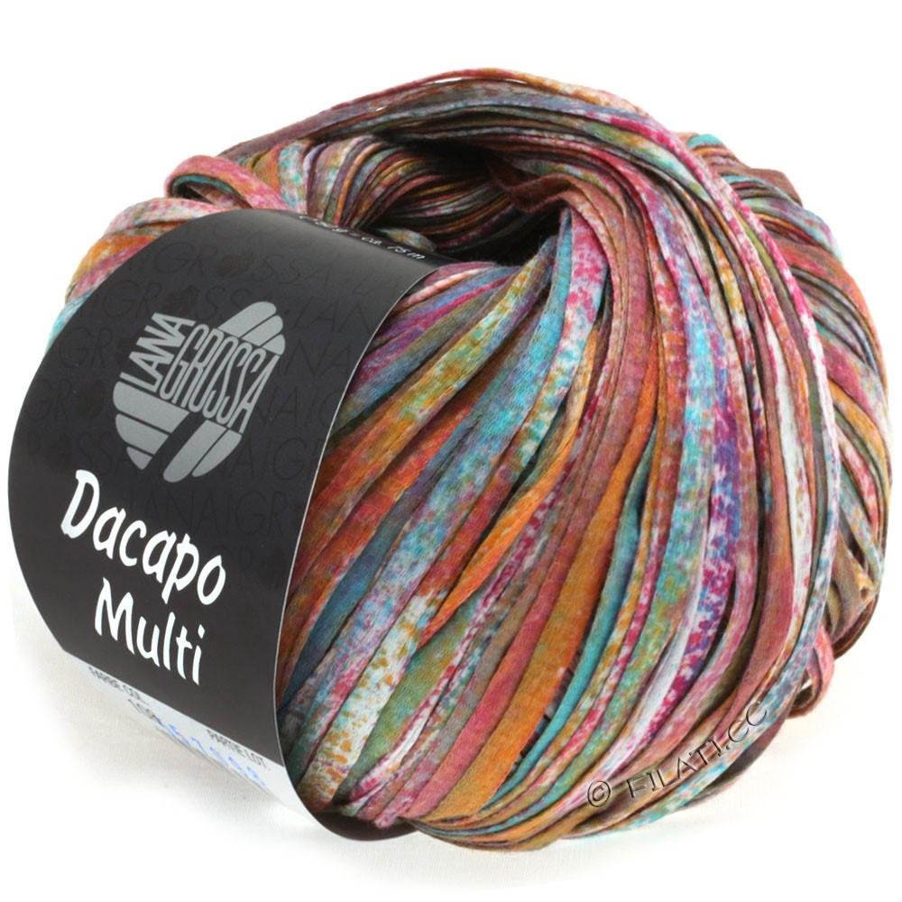 Lana Grossa DACAPO Multi | 108-sennep/turkis/petrol/violet/vinrød/natur