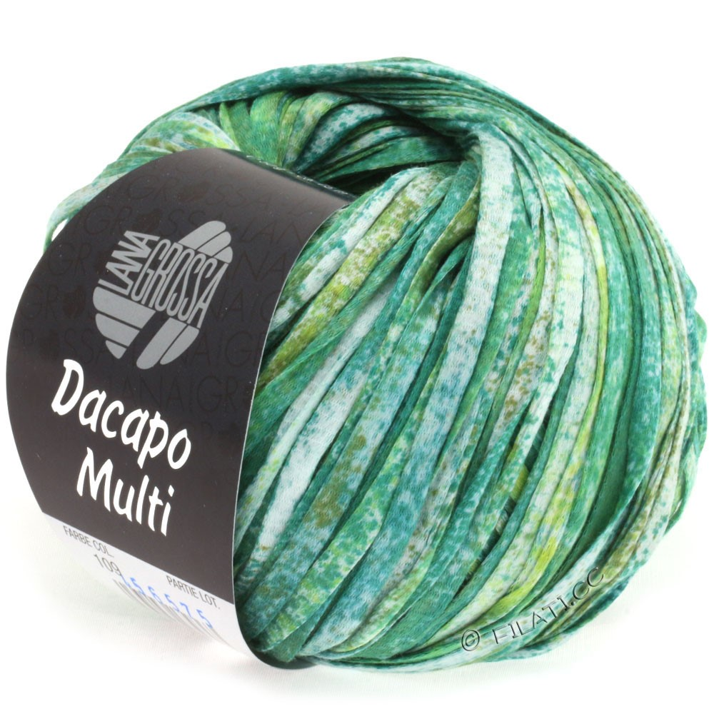 Lana Grossa DACAPO Multi | 109-smaragd/oliven/petrol/natur