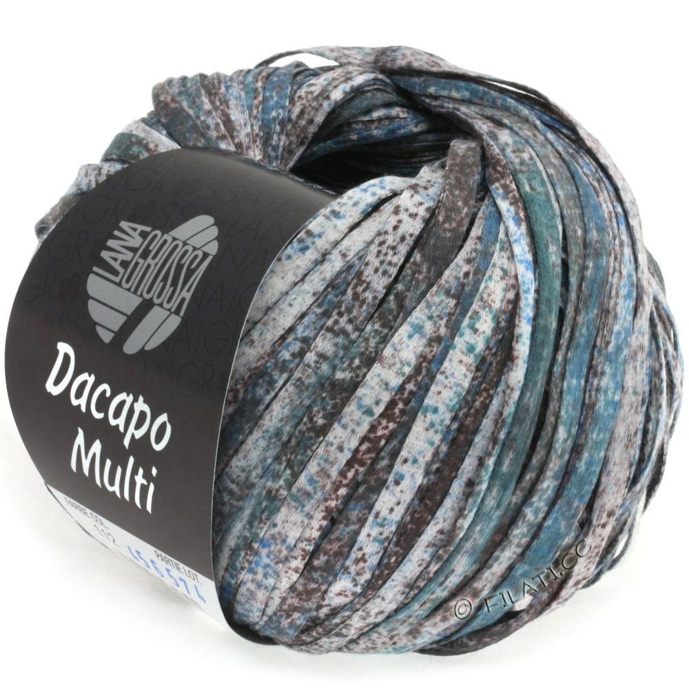 Lana Grossa DACAPO Multi | 112-gråbrun/jeans/rosentræ/petrol/natur