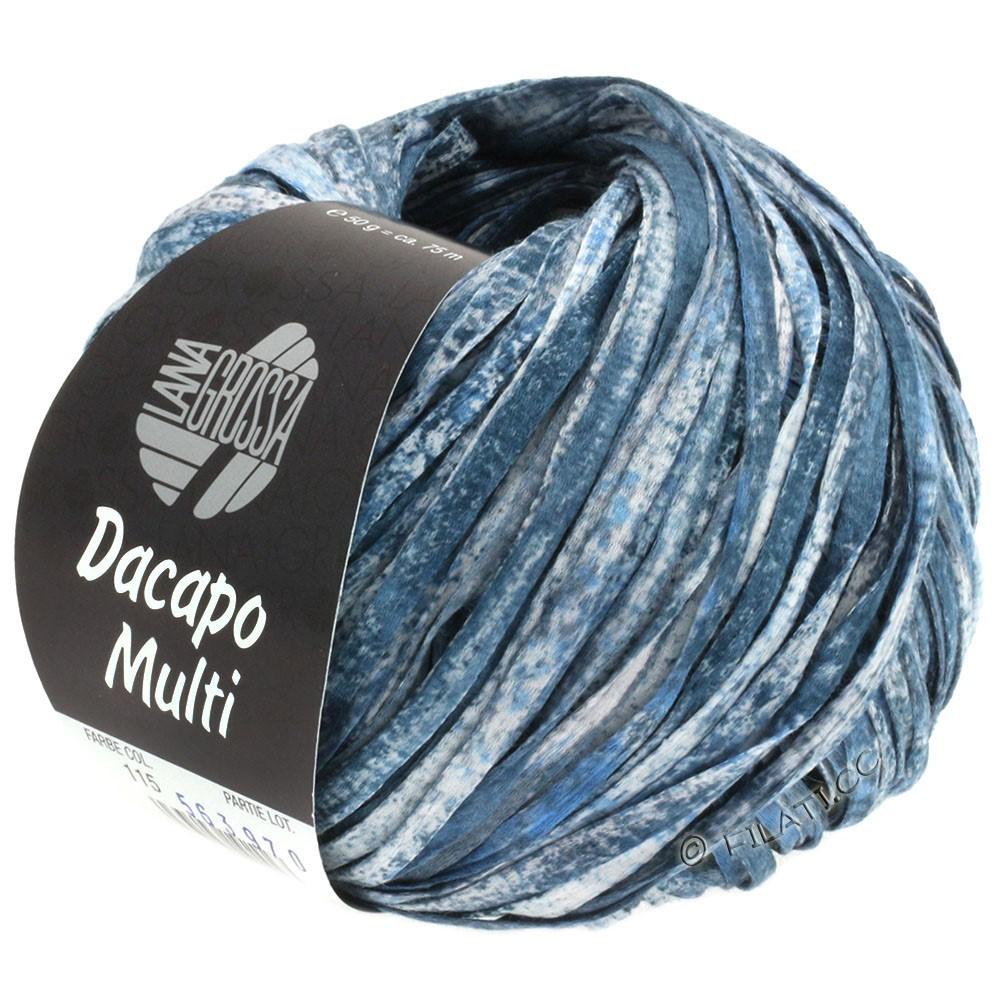 Lana Grossa DACAPO Multi | 115-lyseblå/natblå/grå/hvid