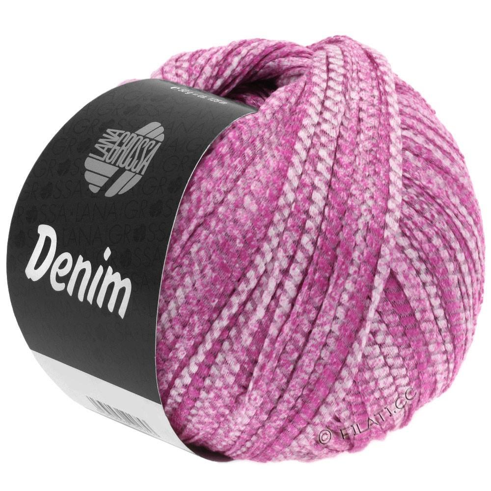 Lana Grossa DENIM   01-pink/hvid