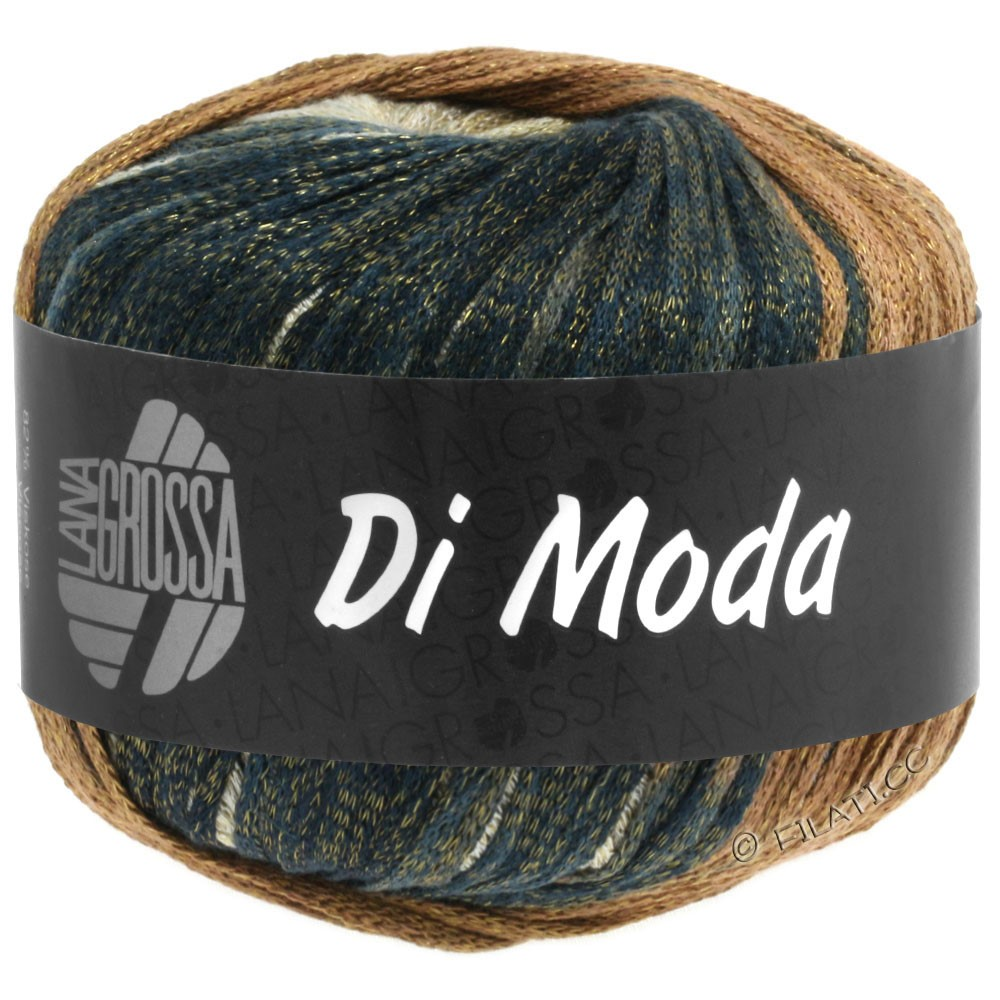 Lana Grossa DI MODA   06-beige/kamel/gråbrun/natblå