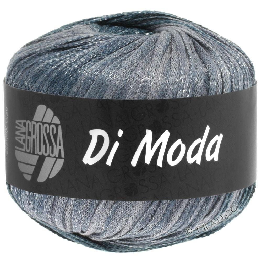 Lana Grossa DI MODA   07-hvid/sartblå/gråblå/mørkegrå
