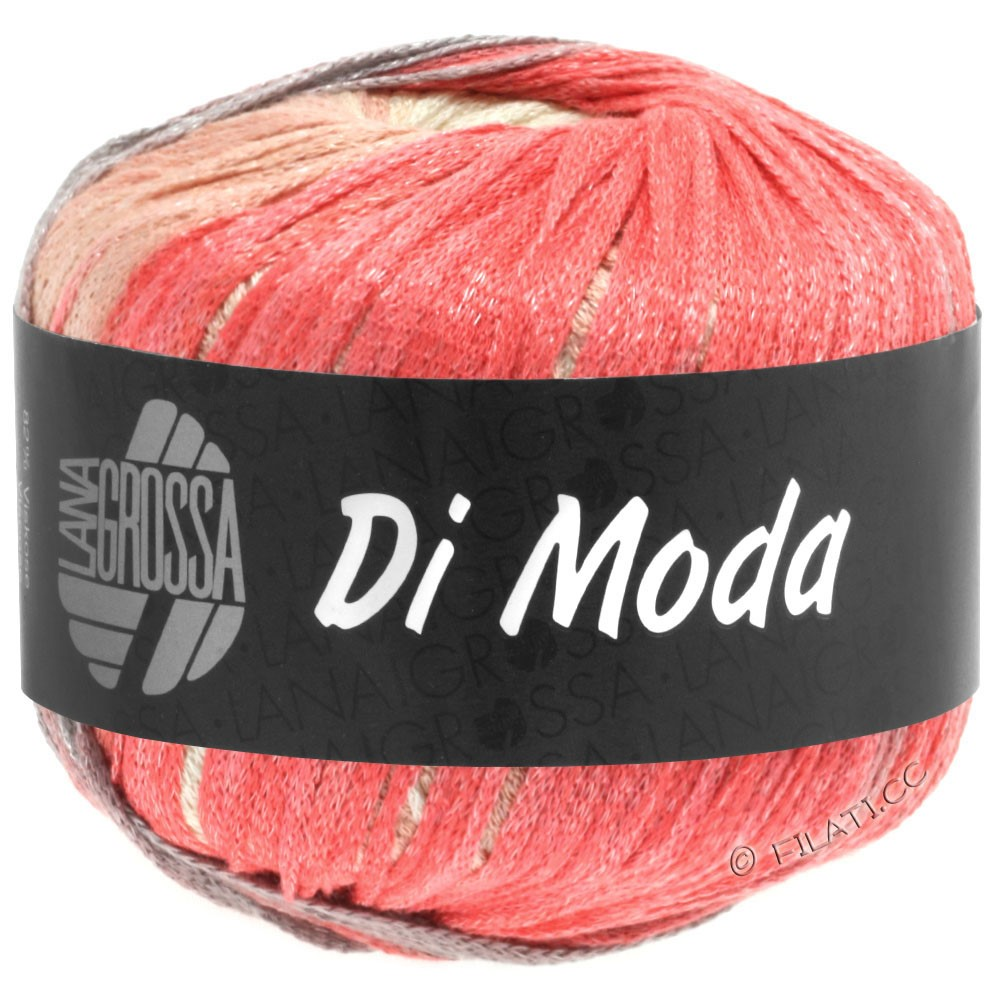 Lana Grossa DI MODA   10-laksrosa/hindbær/rosagrå/æggeskal/blågrå