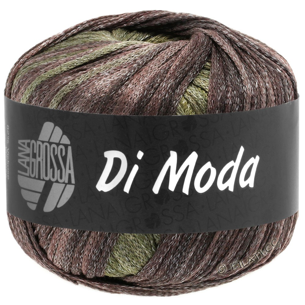Lana Grossa DI MODA | 14-lysoliven/mørkoliven/grågrøn/brombær