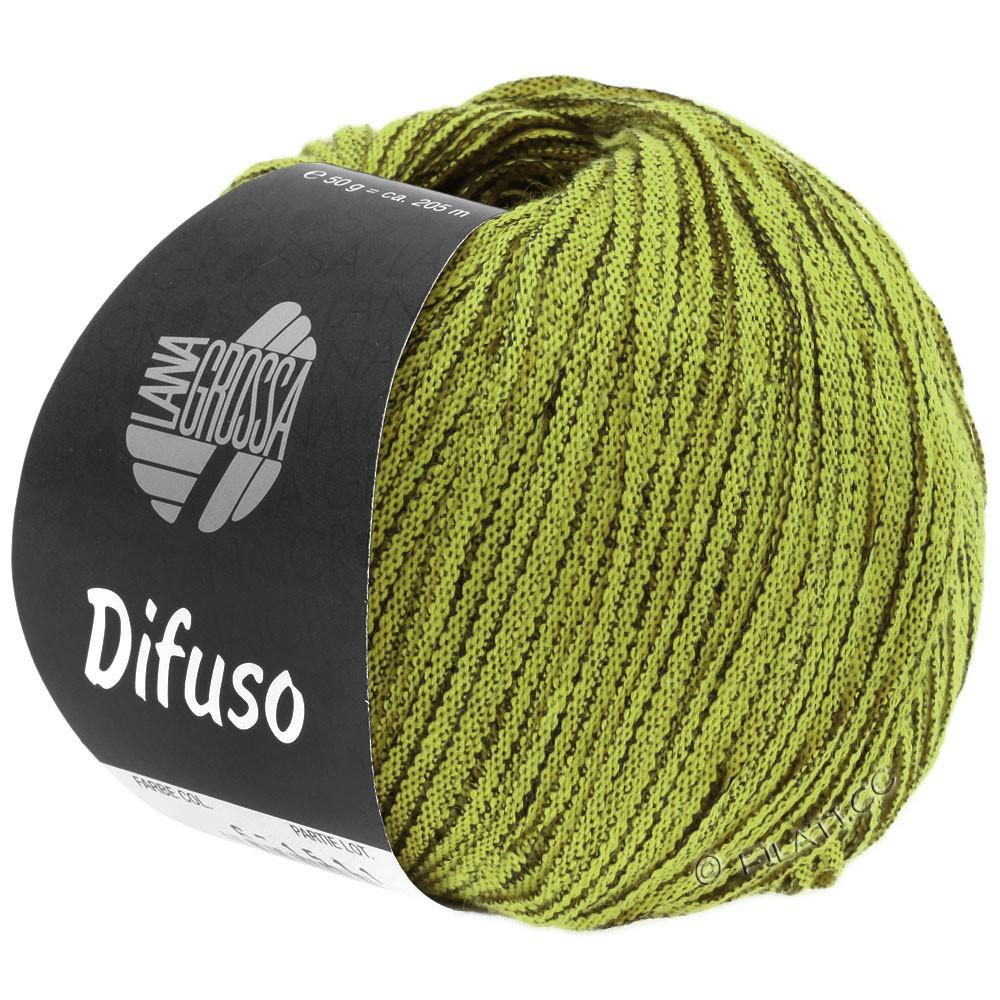 Lana Grossa DIFUSO | 07-gulgrøn/sort