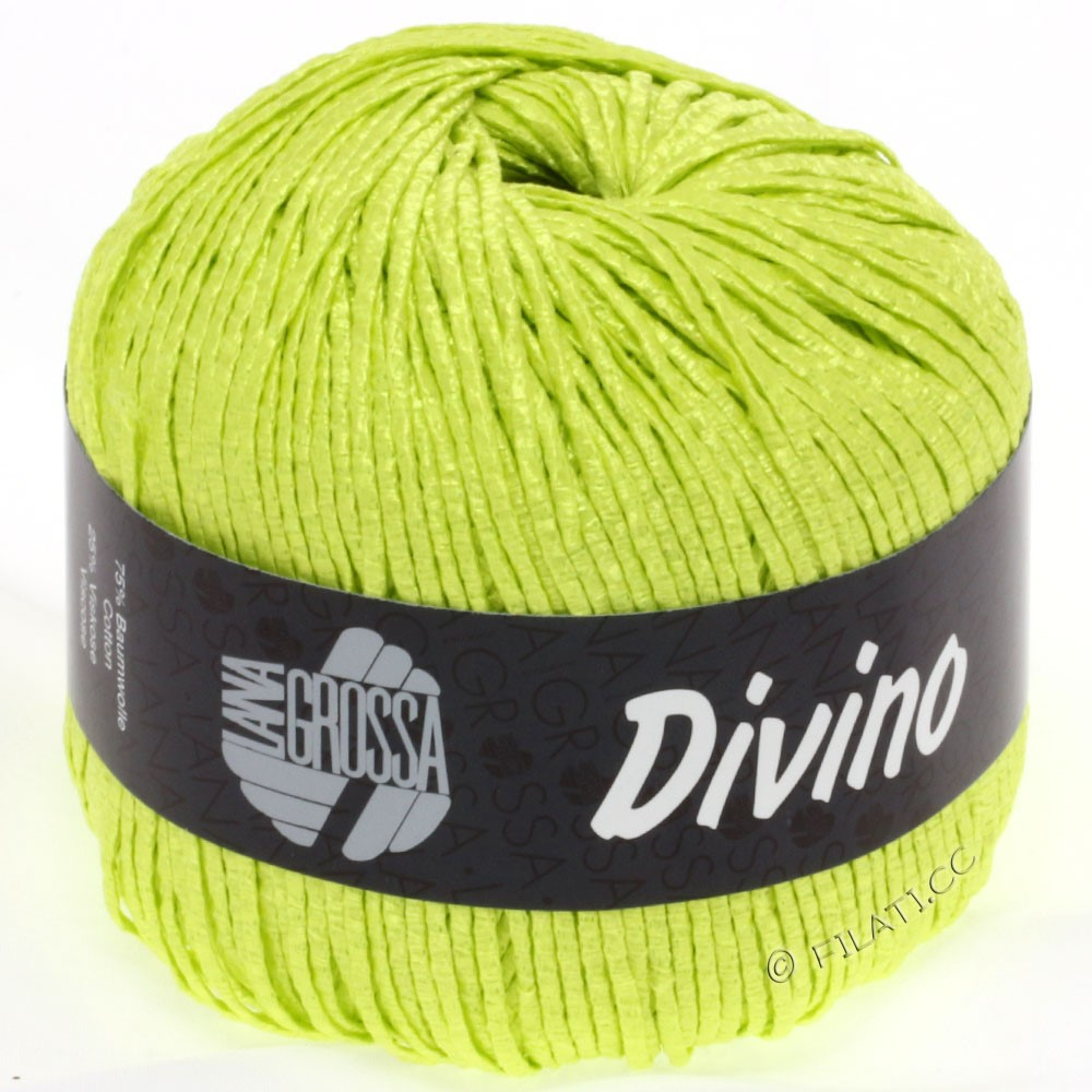 Lana Grossa DIVINO Uni | 38-gulgrøn