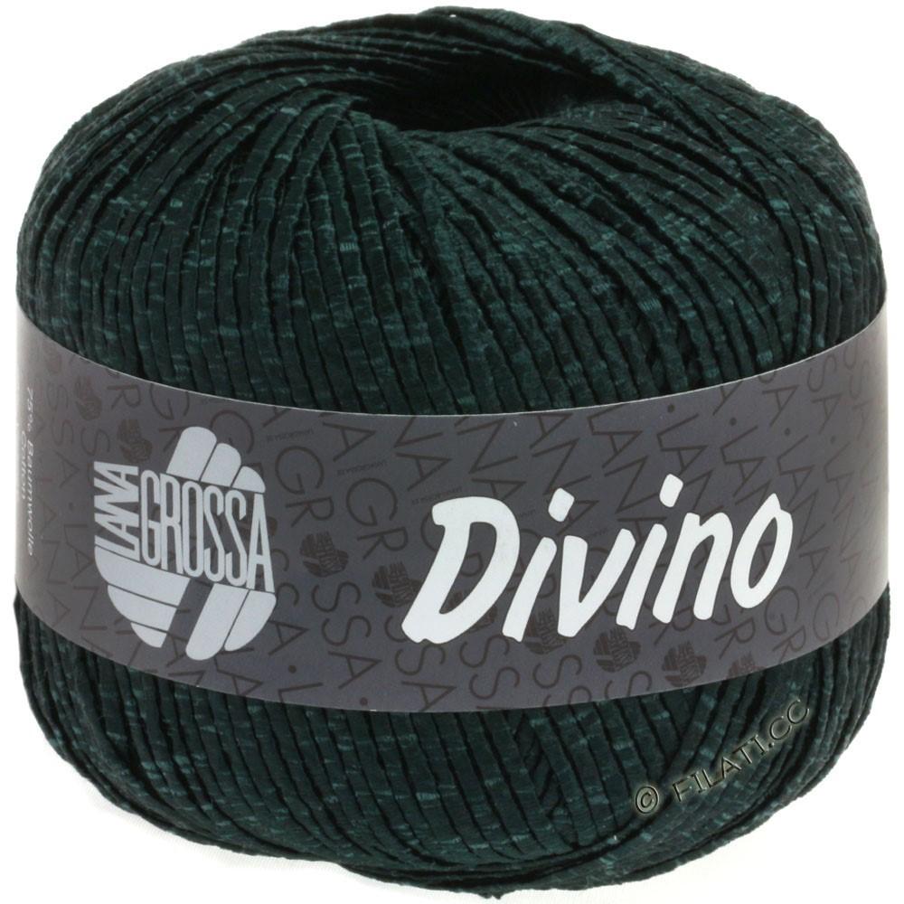 Lana Grossa DIVINO Uni | 55-sortgrøn