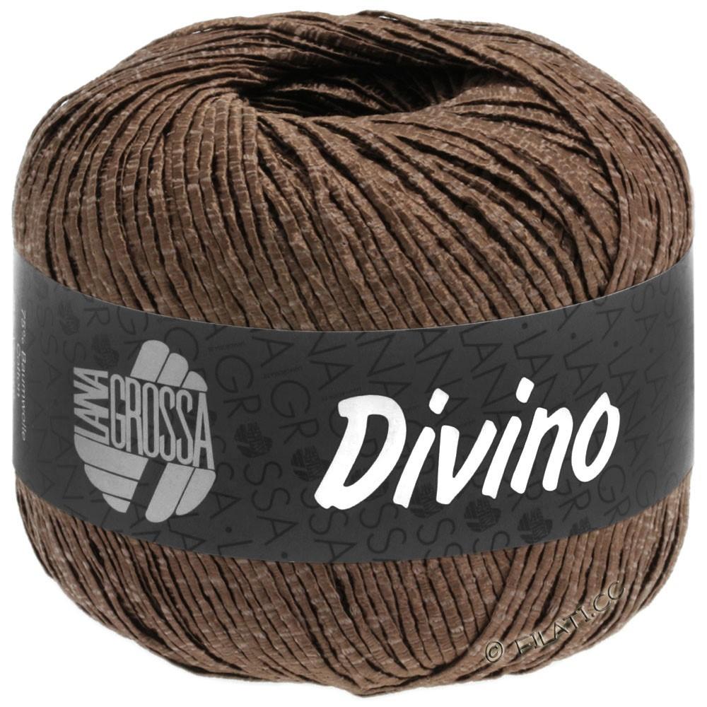 Lana Grossa DIVINO Uni | 57-chokoladebrun