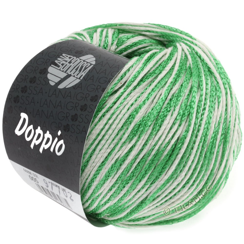 Lana Grossa DOPPIO/DOPPIO Unito | 005-grøn/hvid
