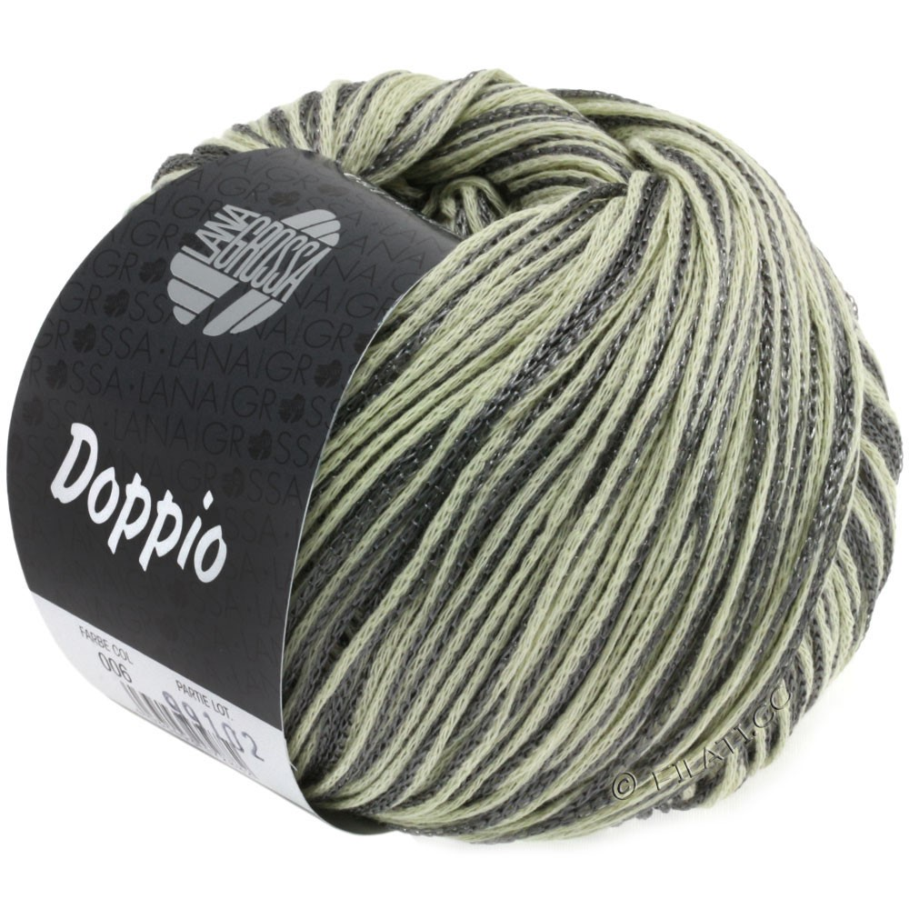 Lana Grossa DOPPIO/DOPPIO Unito | 006-natur/mørkegrå