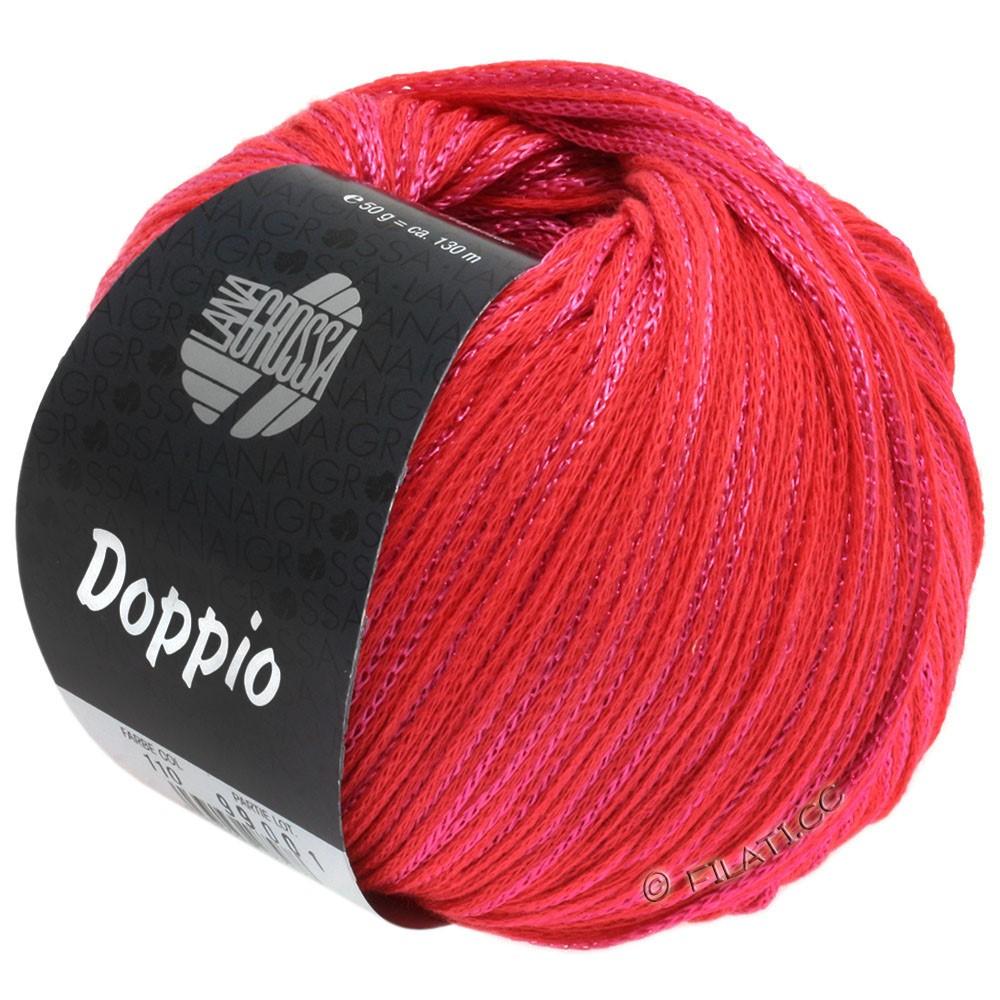 Lana Grossa DOPPIO/DOPPIO Unito | 110-jordbærrød