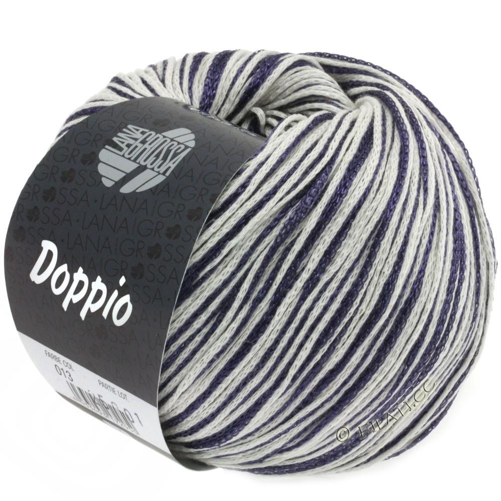 Lana Grossa DOPPIO/DOPPIO Unito | 013-natblå/rå hvid