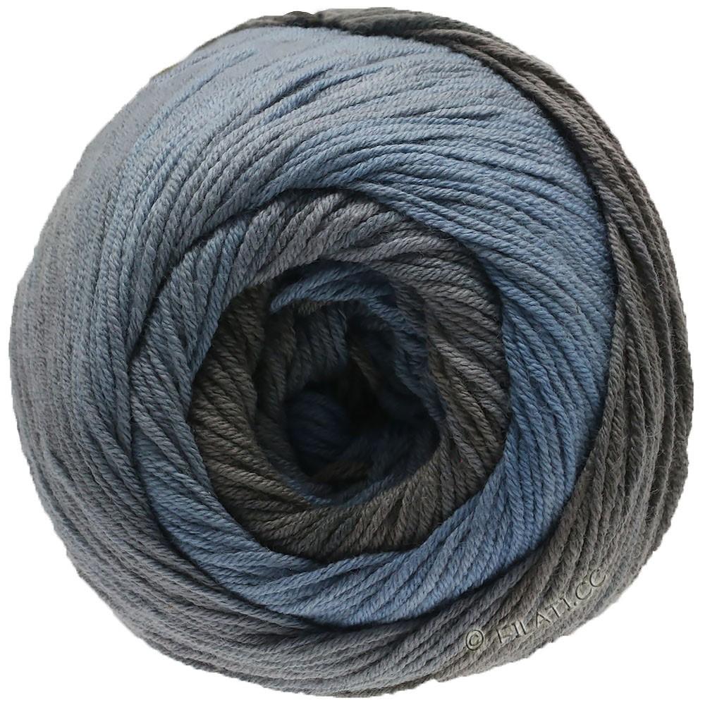 Lana Grossa ELASTICO Degradé | 712-røgblå/gennemsnit grå/gråbrun