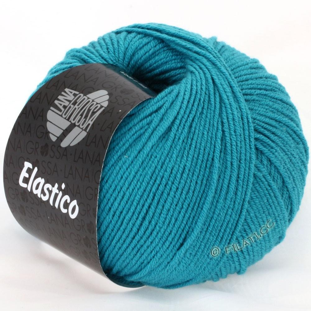 Lana Grossa ELASTICO Uni/Print | 093-petrol blå